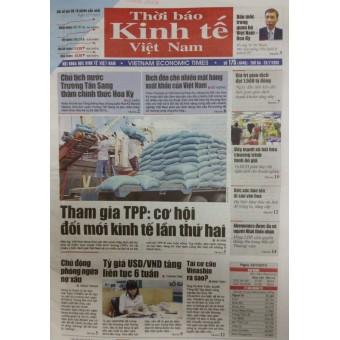 Bảng giá quảng cáo Thời báo Kinh tế Việt Nam Xuân 2015